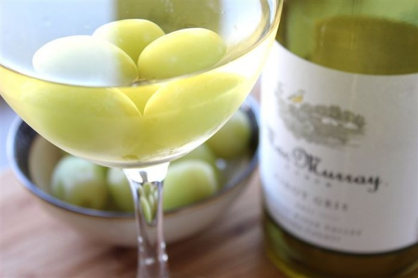 3. Use frozen grapes to chill your wine