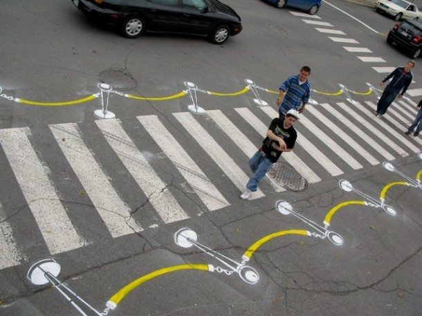 3. Velvet rope crosswalk in Montreal, Canada