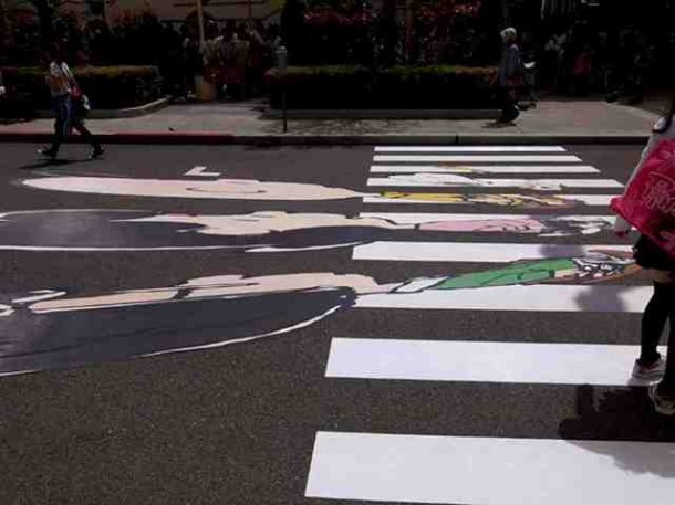4. Peanuts Abbey Road crosswalk in Osaka, Japan2