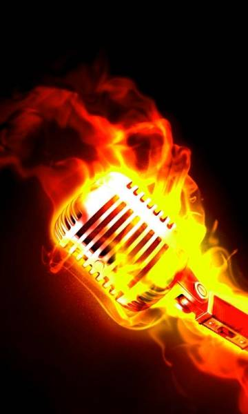 HD Phone Wallpapers flaming mic
