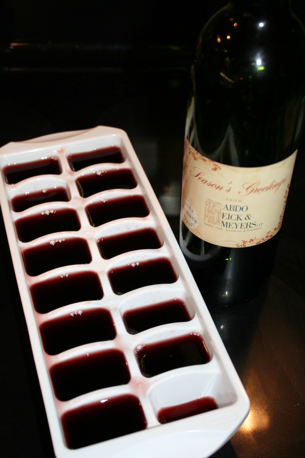 5. Freeze your leftover wine