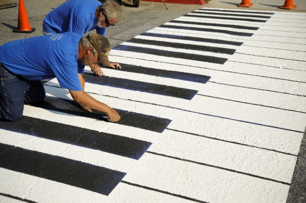 5. Piano crosswalk in Spartanburg, South California, U.S.