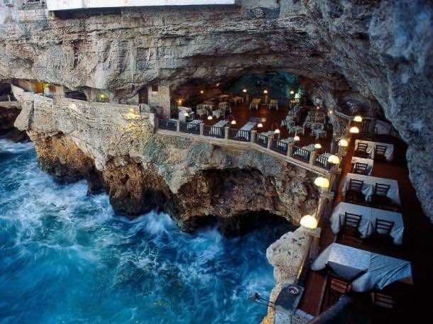 6. Grotta Palazzese — Puglia, Italy