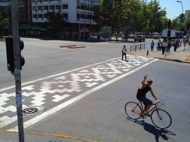 8. Pattern crosswalk in Santiago, Chile