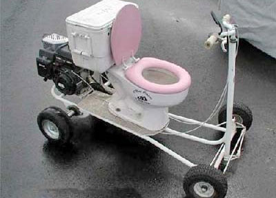 8. Toilet Scooter
