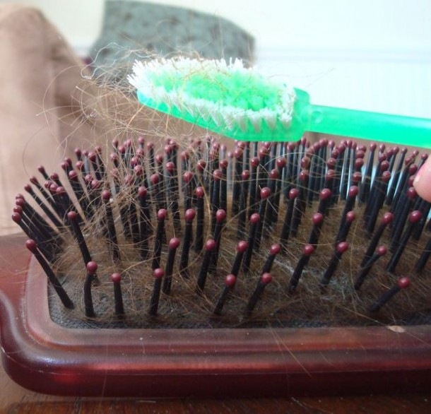 9. Clean Hairbrush