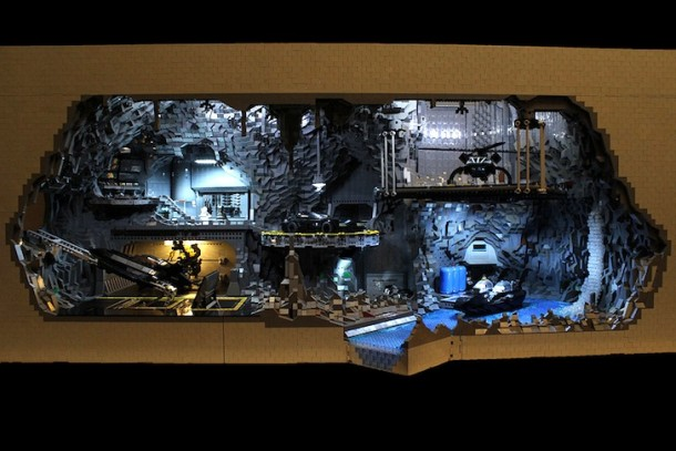 Batcave made from LEGO