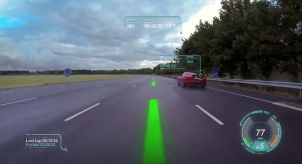 Jaguar Introduces Virtual Windscreen Concept2