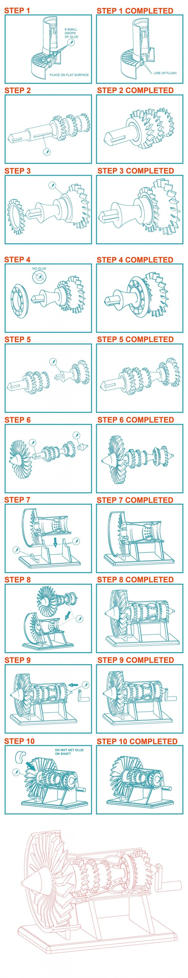 Jet Engine Assembly Guide