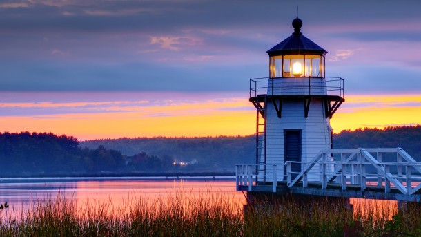 USA, Maine, Doubling Point Lighthouse