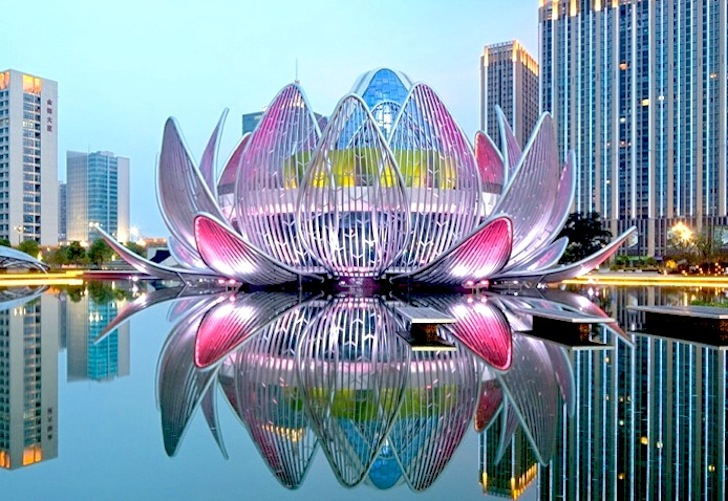 New Building In China Is Shaped Like A Lotus Flower