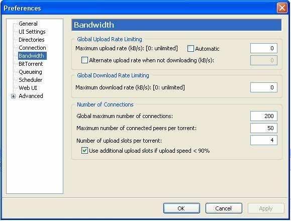 Optimize uTorrent Step 3