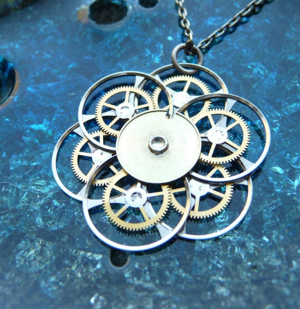 Recycled Watch Pendants (11)