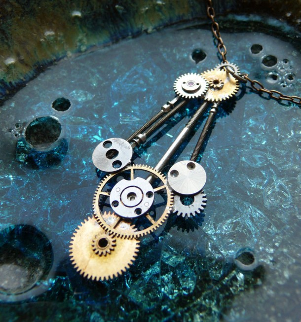 Recycled Watch Pendants (18)