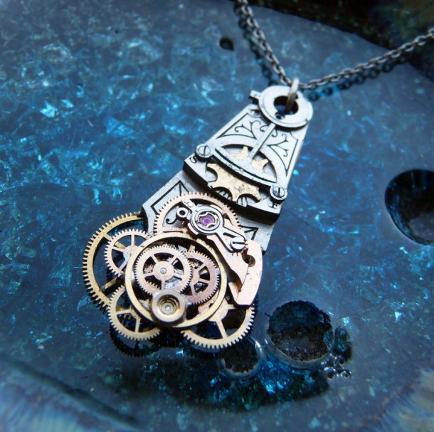 Recycled Watch Pendants (20)