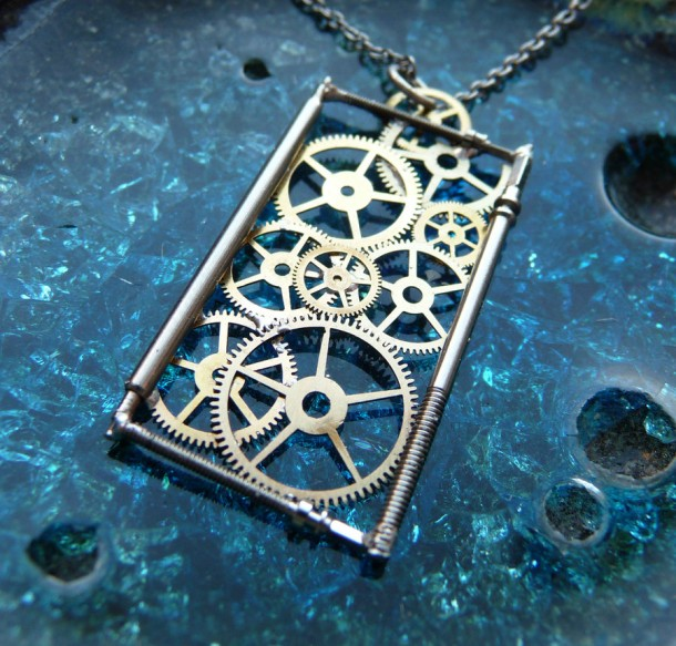 Recycled Watch Pendants (24)
