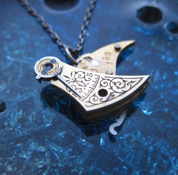 Recycled Watch Pendants (4)