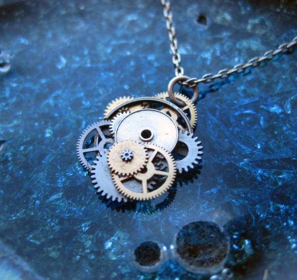 Recycled Watch Pendants (5)