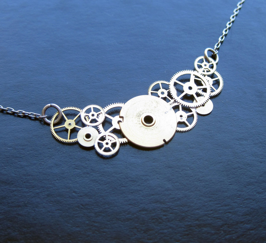 Recycled Watch Pendants (6)