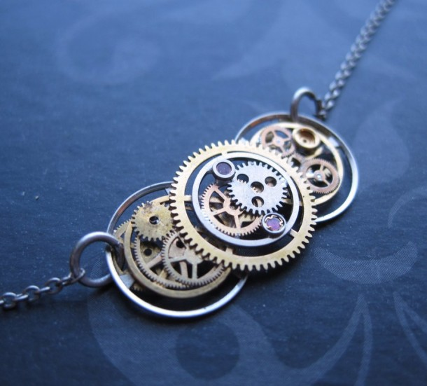 Recycled Watch Pendants (7)