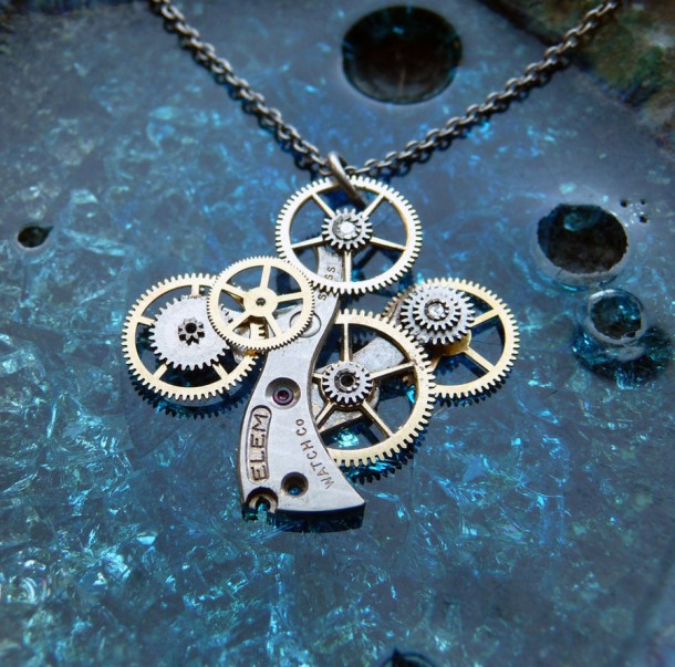 Recycled Watch Pendants (9)