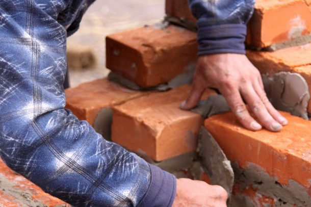 Construction of brick masonry building