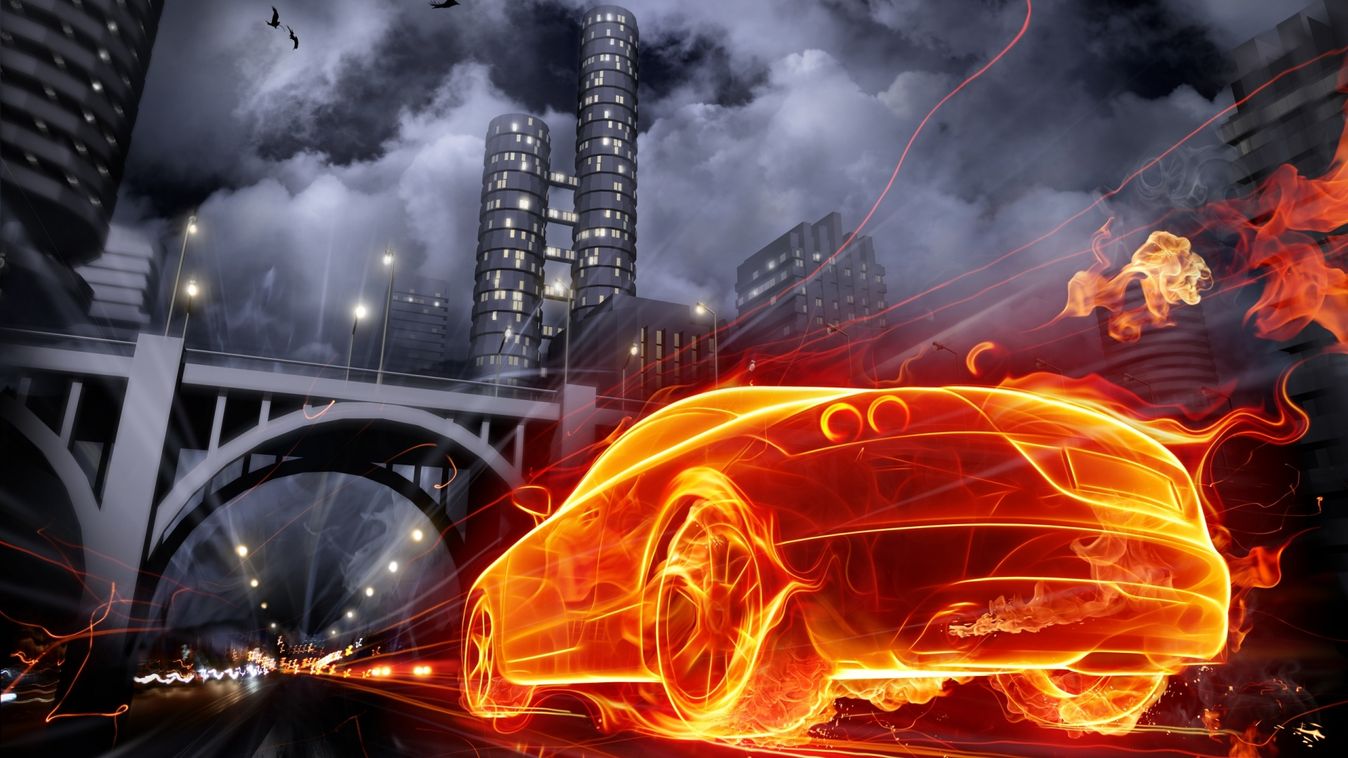 ... Download Car Wallpaper For Pc 2 Drawn_wallpapers_Red_sports_car_013837_  ...