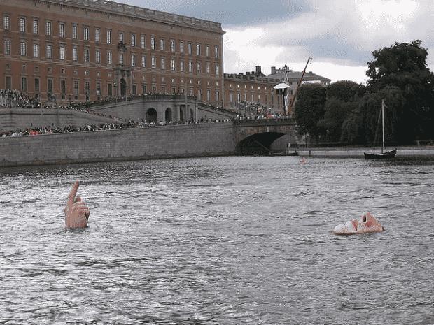 Man in Water-Sculpture