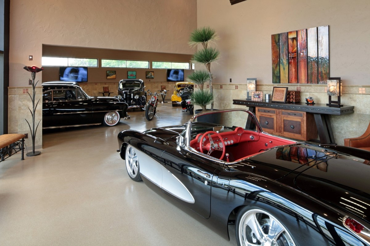25 garage design ideas for your home for How big is two car garage