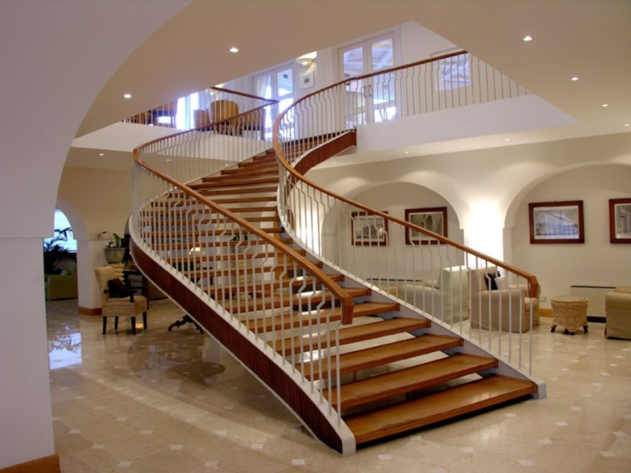 25 stair design ideas for your home Curved staircase design plans