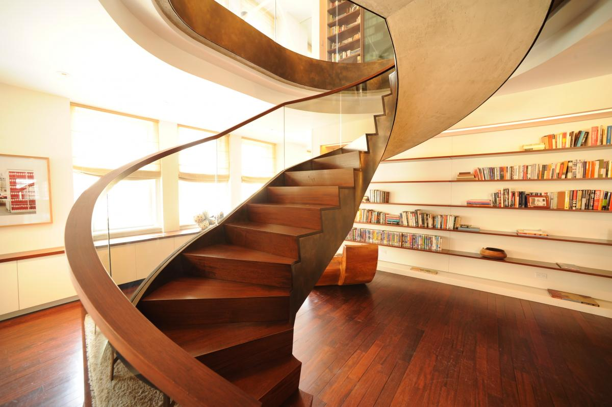 25 stair design ideas for your home for Spiral stair design