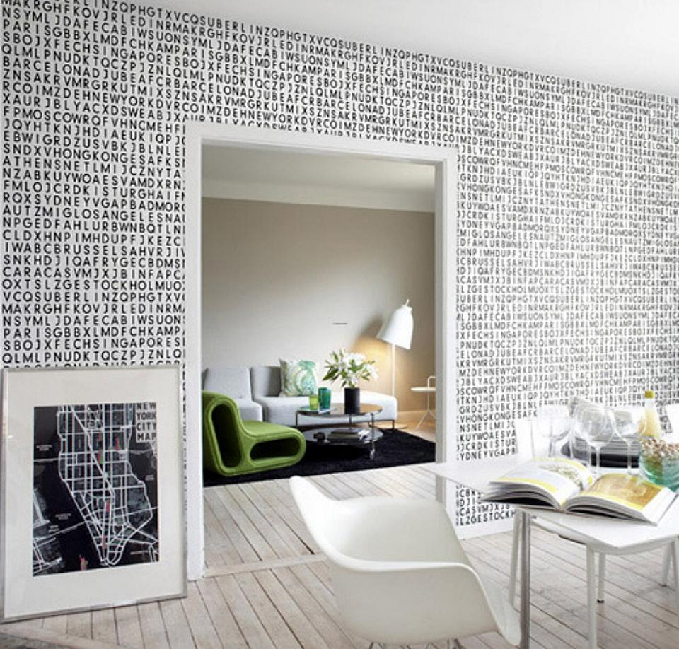 25 wall design ideas for your home for Wallpaper ideas for your home