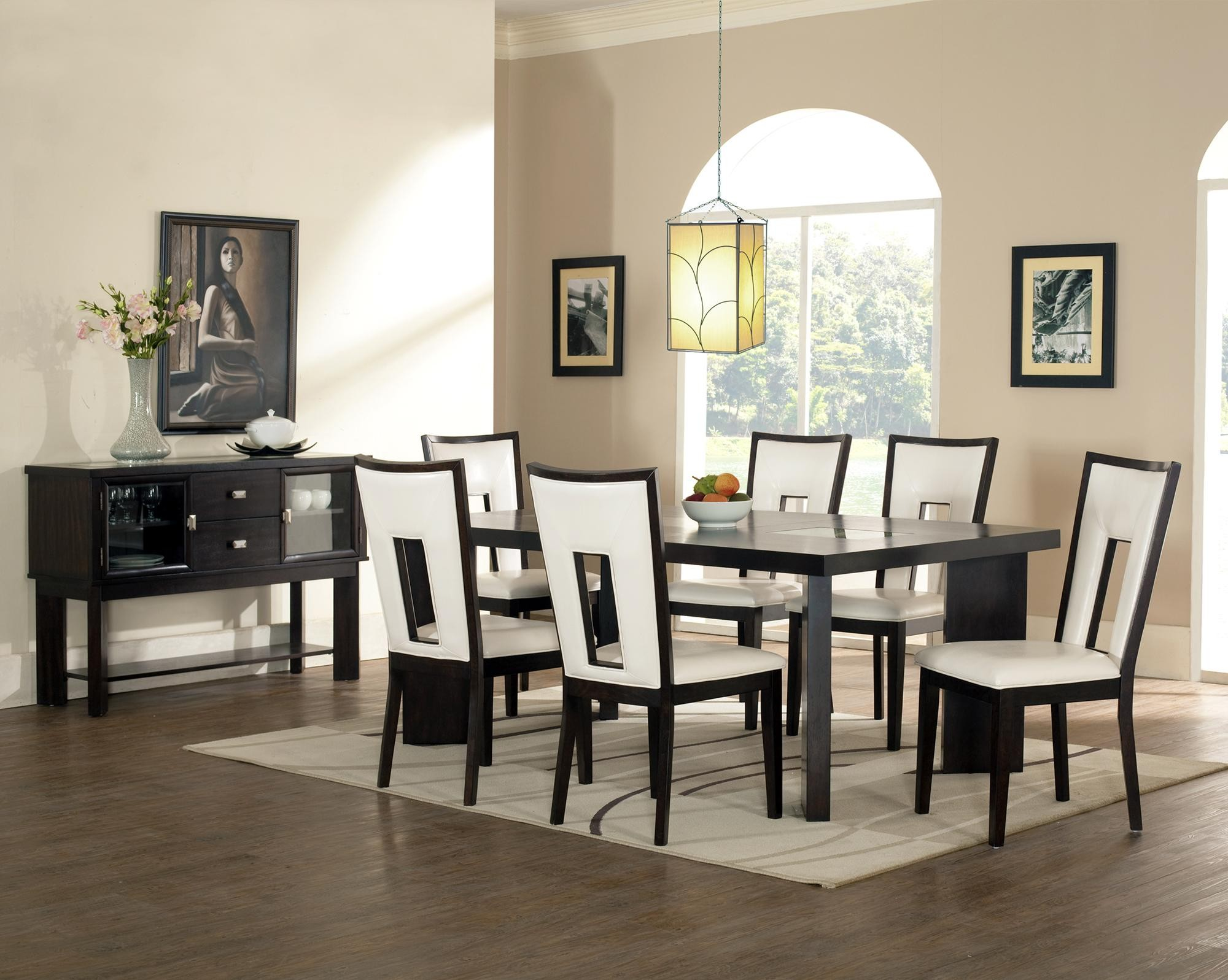 modern white leather dining room chairs best dining room 2017 - Best Dining Tables