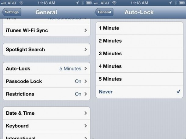 6. Make that Auto-Lock Kick in Faster