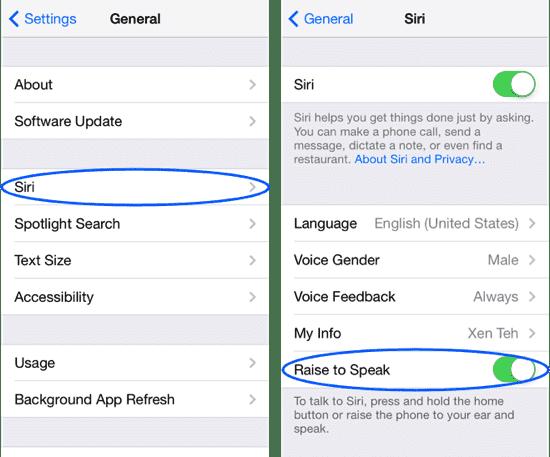 7. Disable Siri's Raise to Speak Feature