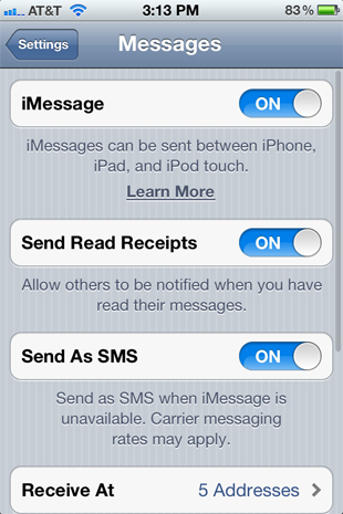 8. Read Receipts