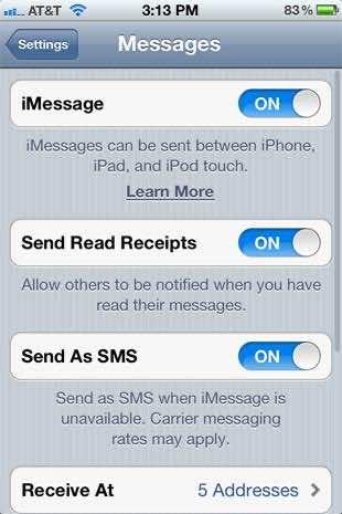 8. Read Receipts