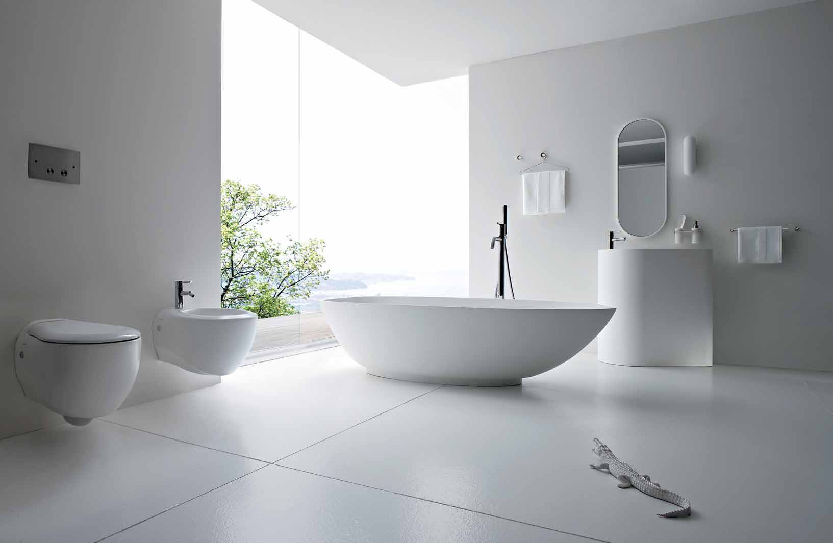 ... Modern Bathroom White Tile Nice Design
