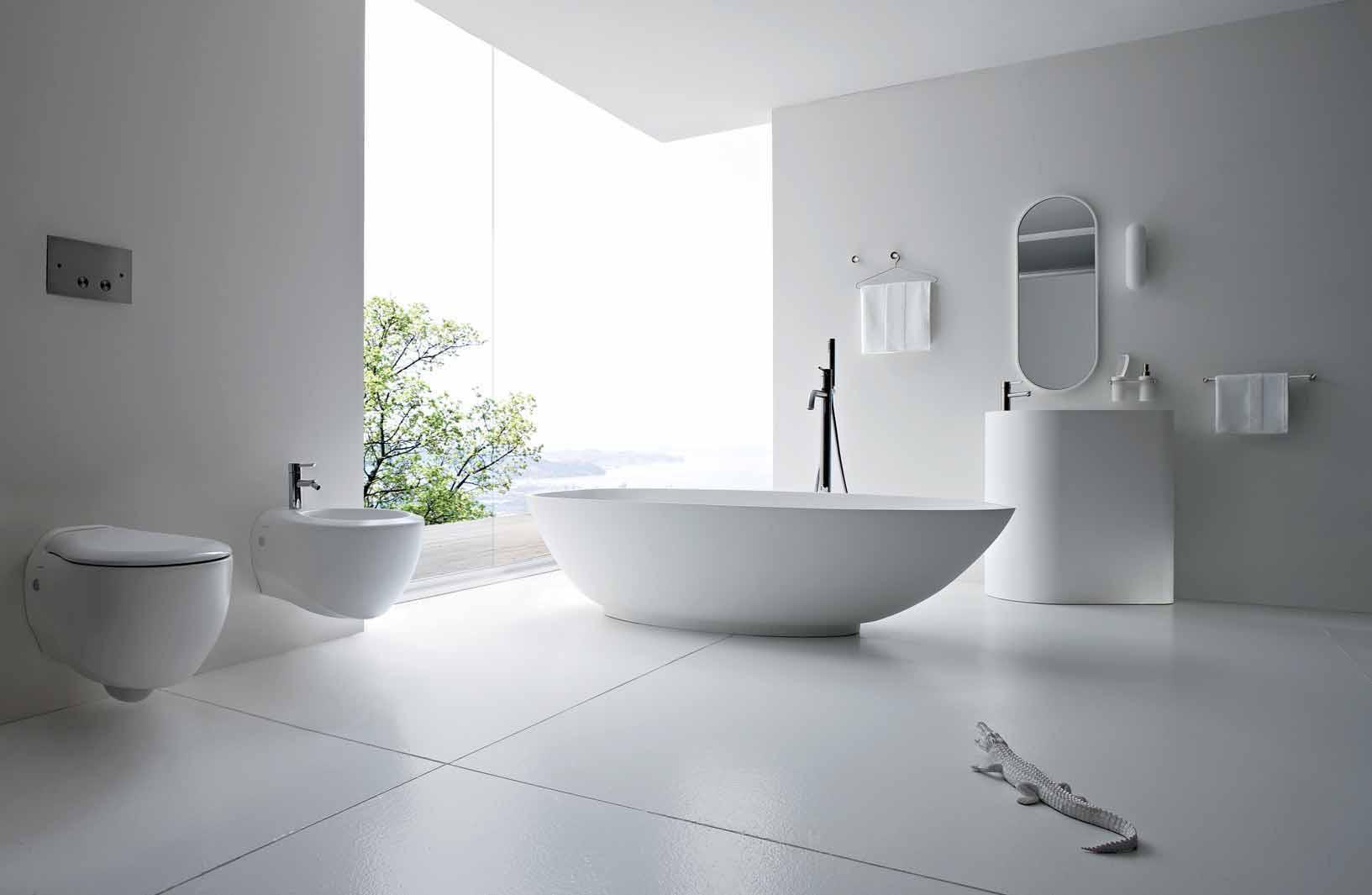 modern bathroom white tile