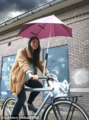 Brolly Umbrella cyclist Senz3