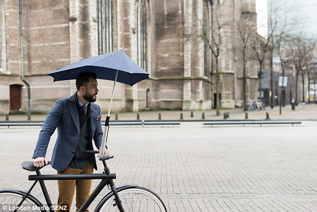 Brolly Umbrella cyclist Senz5