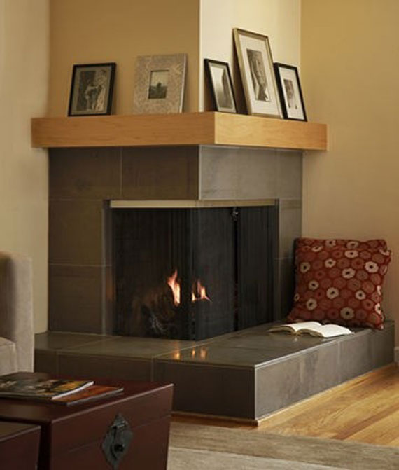 25 hot fireplace design ideas for your house for Corner fireplace plans
