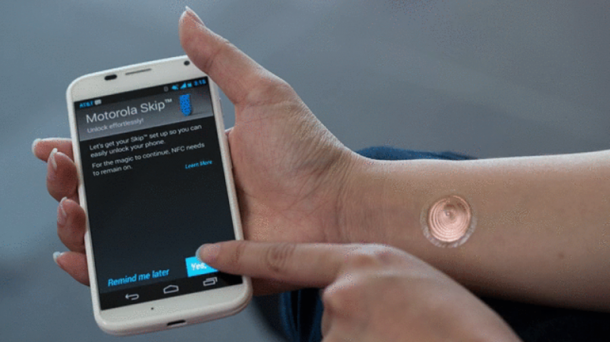 Motorola's Digital Tattoo will let You Unlock your Smartphone4