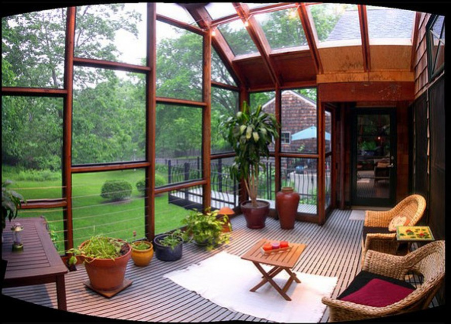 25 awesome ideas for a bright sunroom for Sun porch ideas