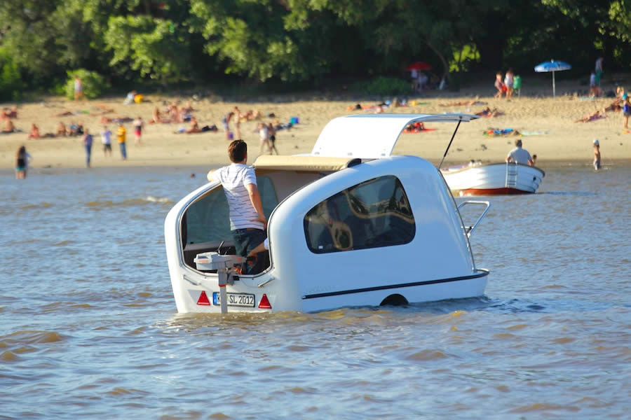 Sealander Is A New Boat That Can Also Run On Land Like A Car