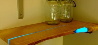 Wood Shelves That Glow in the Dark 8