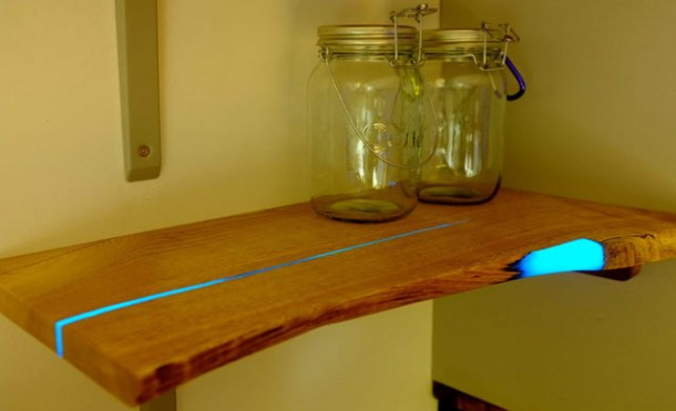 Wood Shelves That Glow in the Dark 8