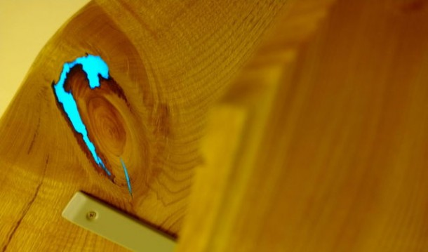 Wood Shelves That Glow in the Dark 9