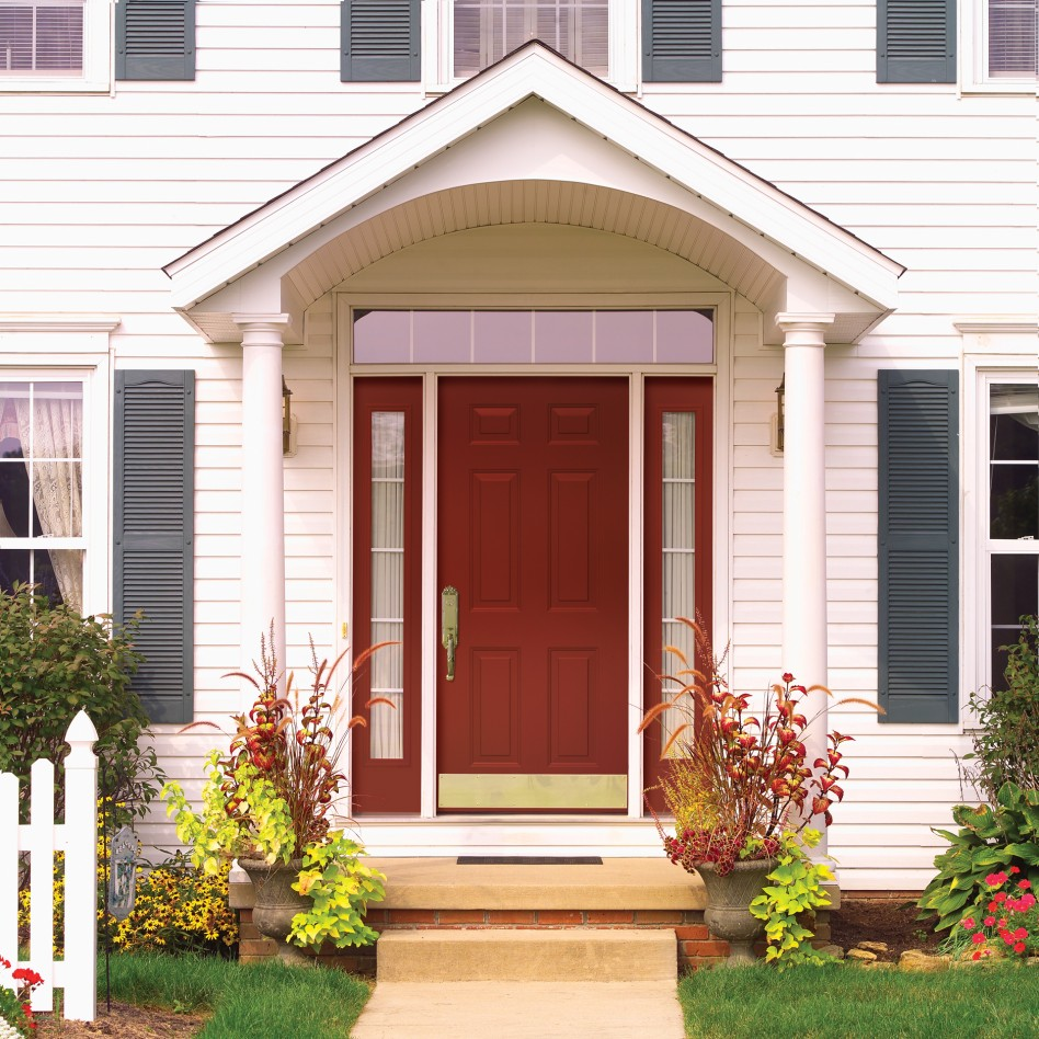 25 inspiring door design ideas for your home for Front entrance doors