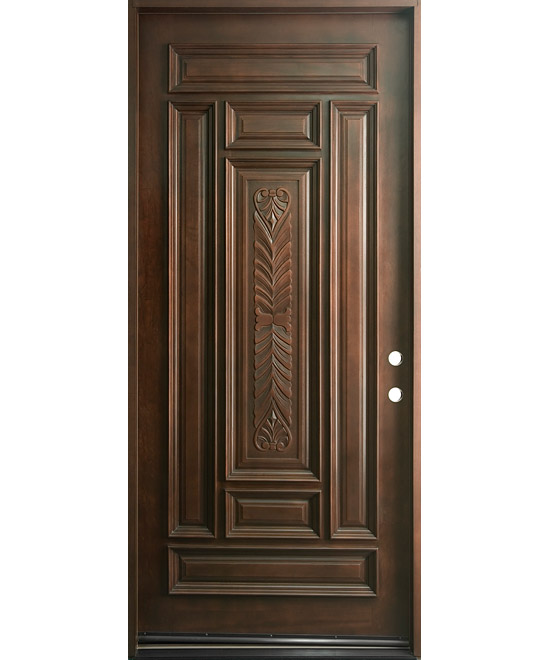 The gallery for single front doors design for Door patterns home